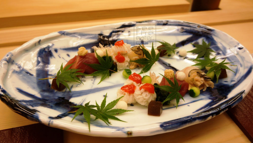 Three types of sashimi