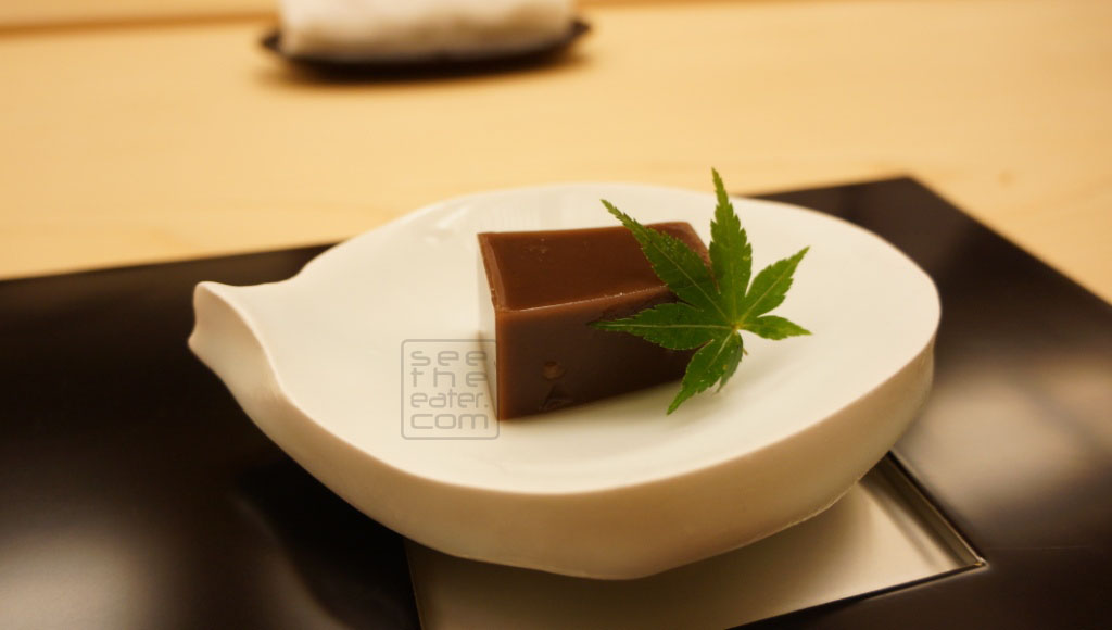Red bean jelly/cake
