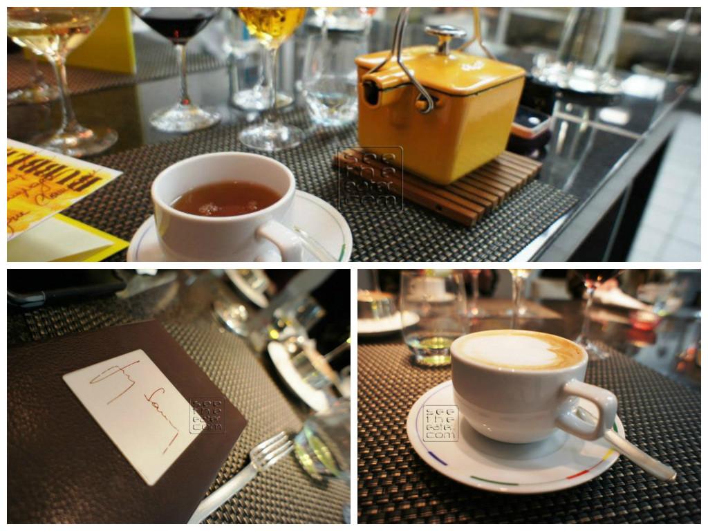 Coffee, tea, and the bill.