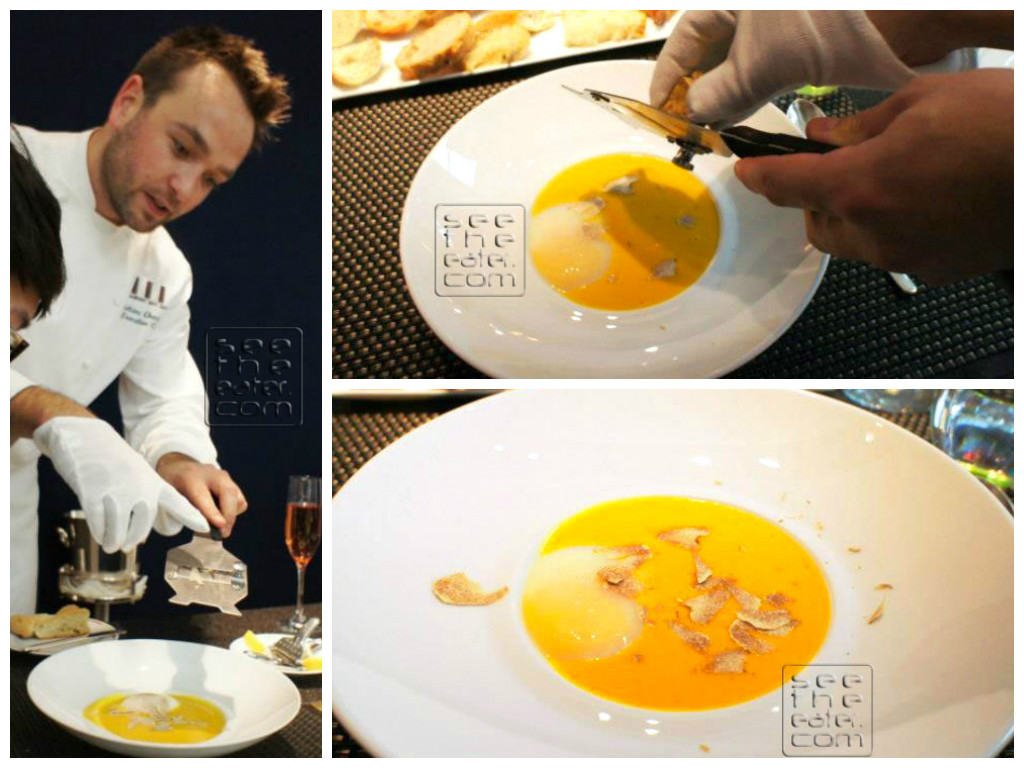 Pumpkin Soup, Pached Egg and White Truffles