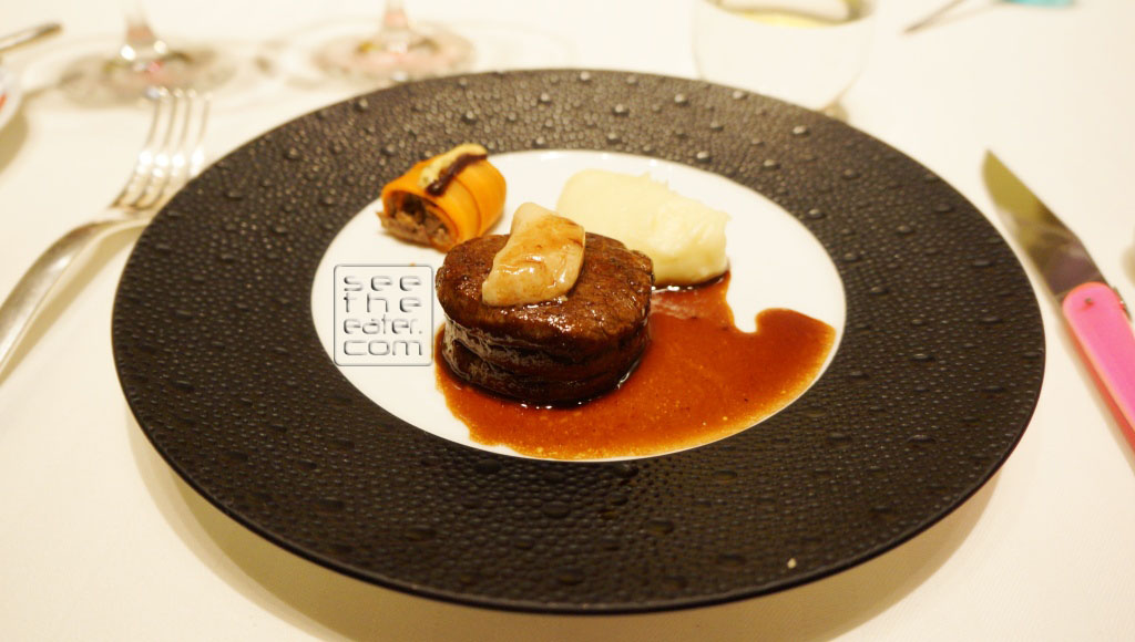 American Prime Beef Tenderloin, Carrot Paleron Cannelloni Paired with Leviathan, California