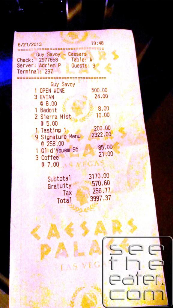 The receipt.