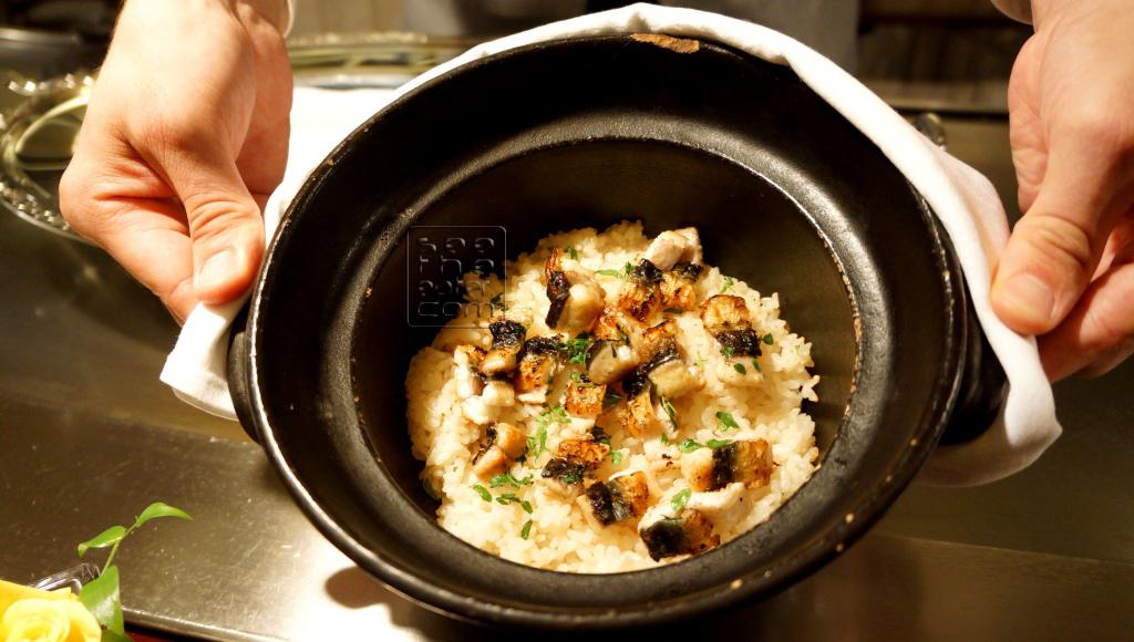 Unagi (eel) steamed with rice