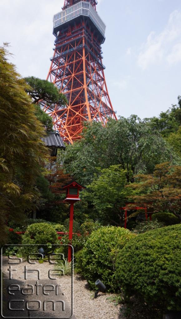 View of the Tokyo Tower from Tokyo Shiba Tofuya-Ukai Garden